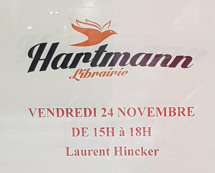 24/11/17 – Laurent Hincker anime un débat sur les violences psychologiques et le harcèlement moral dans la librairie Hartmann à Colmar.